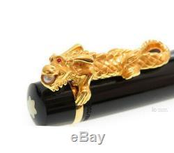 Montblanc Year Of The Golden Dragon 18 K Gold Akoya Pear Fountain Pen 2000