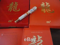 Montblanc Year Of The Golden Dragon 888. F. Pen, 2000 Rare China New Bnib Meissen