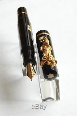 Montblanc Year Of The Golden Dragon Fountain Pen Sealed, Rare, New # 1921/2000