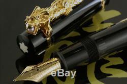 Montblanc Year of the Golden Dragon 2000 Fountain Pen #1521 Medium Nib