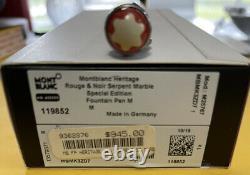 Montblanc heritage rouge et noir serpent marble special edition