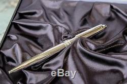 Montblanc meisterstuck classique 164 solitaire steel ballpoint pen 23164