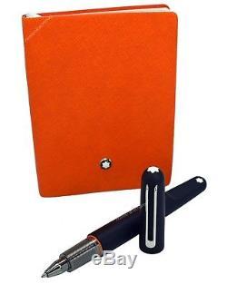 NEW Montblanc Marc Newson M Ballpoint Pen & Lucky Orange 145 Notebook Set 117085
