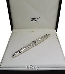 NEW Montblanc Meisterstuck Martele Silver Le Grand Roller Ball Pen 115098