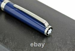 NEW Montblanc PIX Collection Blue & Platinum Ball Point Pen 114810