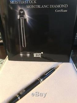 NIB $1040 Montblanc Meisterstück Diamond Mozart Fountain Pen 107545