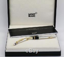 Neu Montblanc 114 Pure Platin 950 Solid Füller Mozart Platinum Fountain Pen -50%