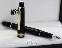 Neu Montblanc 145 Classique Füller Meisterstück Gold-coated Pen Id. 106514