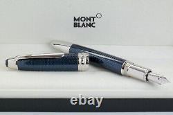 Neu Montblanc 146 Blue Hour Füller Le Grand Fountain Pen Solitaire 112889 Ovp