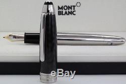 Neu Montblanc 146 Carbon Steel Le Grand Füllfederhalter Meisterstück Pen Füller