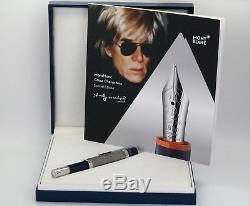 Neu Montblanc Andy Warhol Füllfederhalter 112716 Füller In Ovp Fountain Pen
