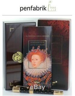 Neu Montblanc Queen Elizabeth I 4810 Füller Patron Of Art 2010 Elisabeth Pen