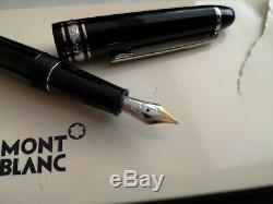 New Mont Blanc Meisterstuck Platinum Fountain Pen
