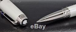 New Montblanc Boheme Blanche White & Platinum Roller-Ball Pen 111344