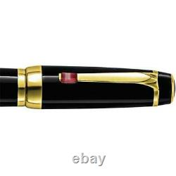 New Montblanc Boheme Rouge Red Ruby Black/Gold Rollerball Cap Pen BOX