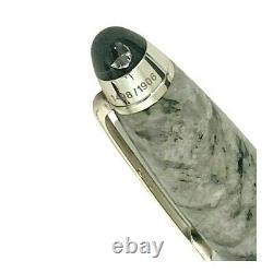 New Montblanc Soulmakers Diamond 100 Year Ann Ceramic Silver Fountain Pen