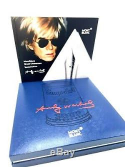 New! Montblanc Special Edition Andy Warhol Fountain Pen Medium Nib 112716