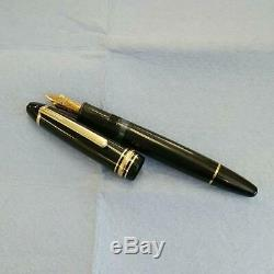 RARE 1970s Vintage Montblanc Meisterstuck 146 fountain pen Nib 14C M/s good EMS