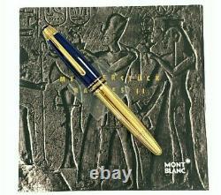 RARE MONTBLANC Ramses II Lapis Lazuli Le Grand Fountain Pen 1995