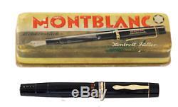 RARE Montblanc L139 G 1940 s /14 Karat Gold nib/ F /Box