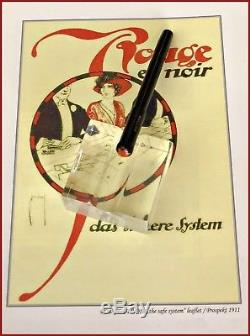 RARE VINTAGE 1920s MONTBLANC N. 0 ZERO ROUGE ET NOIR EYEDROPPER FOUNTAIN PEN