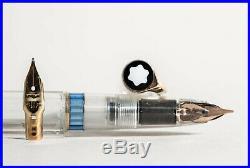 Rare DEMONSTRATOR 24 MONTBLANC Piston Filler wingnib fountain pen 1960