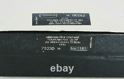 Rare MONTBLANC Meisterstück146 Silver 75 Ann LE Diamond Fountain Pen 1999
