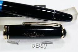 Rare MONTBLANC n° 256-Blackl-gold nib M-1950 c. Pif