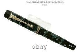 Rare Montblanc N 334 1/2 Blue Marbled Fountain Pen 1937