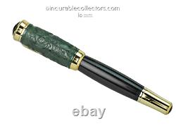 Rare New Montblanc Jade Qing Dynasty Le Fountain Pen 2002