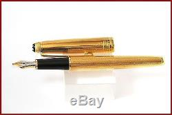 Rare Uninked Montblanc Meisterstuck 144V Fountain Pen Gold nib