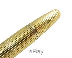 Rare Uninked Montblanc Meisterstuck 144V pinstriped Fountain Pen Gold nib