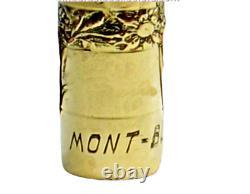 Rare Vintage Montblanc Double Zero 18 K Gold R Eyedropper Fountain Pen 1920