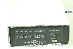 SEALED Montblanc Agatha Christie Writers LE 1996 Silver snake fountain pen