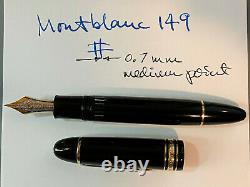 Slightly Used Montblanc Meisterstuck 4810 Fountain Pen 14k Gold Nib 585