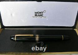 Splendide Stylo Plume Montblanc Meisterstück 149 Plume En Or Massif 18 Carats