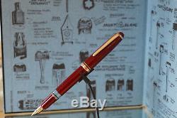 Vintage 1950's MONTBLANC 254 Bordeaux Fountain pen Excellent in original box