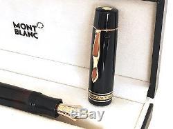 Vintage L 139 G MontBlanc Meisterstück K M 14C gold NIB Celluloid Fountain pen