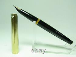 Vintage MONTBLANC 124 pistonfiller fountain pen 14ct EF nib doublé cap