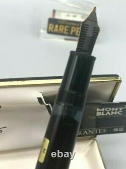 Vintage MONTBLANC 146 LeGrand Fountain Pen 14K Med Flexible Nib Blue Window NEW