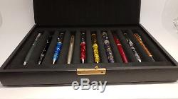 Vintage MONTBLANC 20 Pen Black Leather Case Display Box