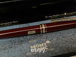 Vintage MONTBLANC Meisterstuck Burgundy Red 163R Rollerball Pen, NOS