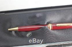 Vintage Montblanc 164 164R Classique BURGUNDY Ballpoint Pen NOS NEW