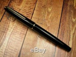Vintage Montblanc 320 Fountain Pen-Jet Black Piston Filler-14K-Germany 1970s