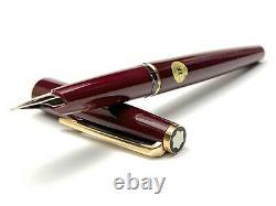 Vintage Montblanc 320 Fountain Pen in Bordeaux Color