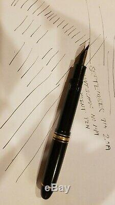 Vintage Montblanc Meisterstuck 149 18k. 750 4810 Nib Piston Fill Fountain Pen