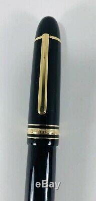 Vintage Montblanc Meisterstuck 149 Fountain Pen 18K Gold 4810 18c 750 Inkwell