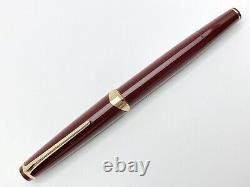 Vintage Montblanc Meisterstuck No. 14 Fountain Pen In Bordeaux Color 001
