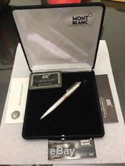 Vintage Montblanc Meisterstuck SOLITAIRE Ag 925 Silver Ballpoint Pen Boxed