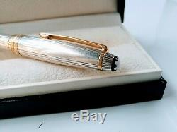 Vintage Montblanc Meisterstuck Solitaire Sterling Silver Ballpoint Pen 925 stod